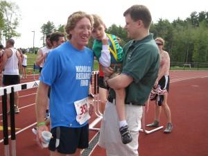 John Tanner gave Nicholas his Boston Marathon medal!