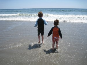Nichoals and William at the beach