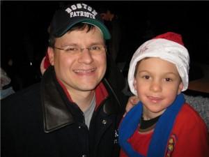 Nicholas and his Dad!