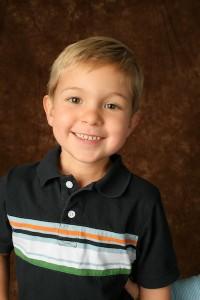 Nicholas smile with stripe shirt